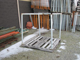 Corner post Pallet stacking frame